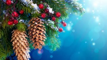 下雪的圣诞树高清壁纸静物写真-好运图库