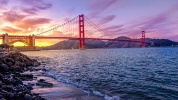 世界著名桥梁之金门大桥,高清壁纸图片,各国建筑-好运图库