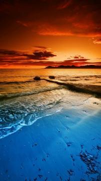 蔚蓝海岸,锁屏图片,高清手机壁纸,风景-好运图库
