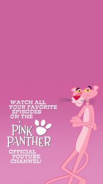 可爱的粉红顽皮豹高清手机壁纸-好运图库