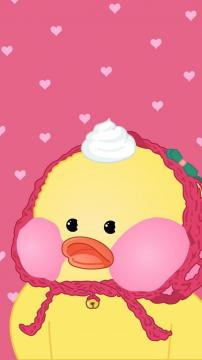 小黄鸭简约可爱卡通图片,锁屏图片,高清手机壁纸-好运图库