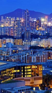 繁华的城市夜景,锁屏图片,高清手机壁纸,风景-好运图库