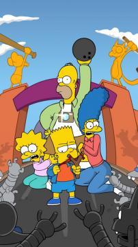 辛普森家族可爱卡通,锁屏图片,高清手机壁纸-好运图库