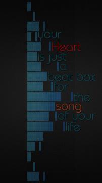 你的心是一个跳动的盒子,生命之歌,锁屏图片,高清手机壁纸,另类-好运图库