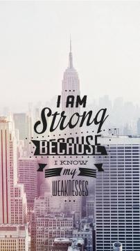 我很强壮,因为我知道我的弱点的,锁屏图片,高清手机壁纸,另类-好运图库