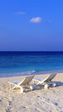 巴巴多斯海滩,锁屏图片,高清手机壁纸,风景-好运图库