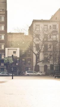 童年的篮球场,锁屏图片,高清手机壁纸,风景-好运图库