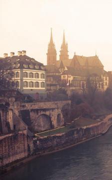 欧洲日落河镇,锁屏图片,高清手机壁纸,风景-好运图库