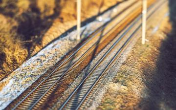 铁轨唯美意境图片,高清壁纸,摄影图片,静物写真-好运图库