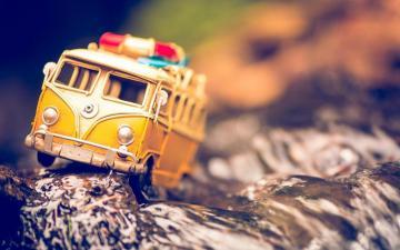 复古怀旧玩具巴士,高清壁纸,摄影图片,静物写真-好运图库