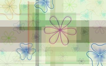 梦幻彩绘花朵,高清壁纸图片,五颜六色-好运图库