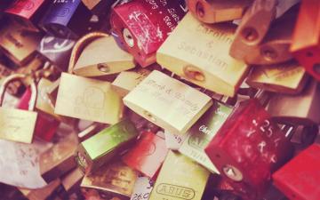 唯美的情人锁,高清壁纸,摄影图片,静物写真-好运图库
