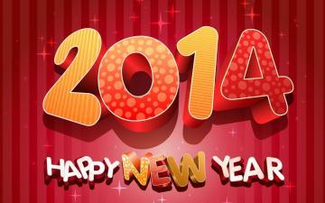 2014年新年快乐高清壁纸-节日矢量-好运图库