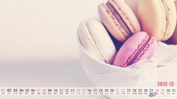 2013年12月唯美清新日历,农历,月历壁纸-好运图库