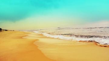 清爽海边风光高清壁纸-好运图库