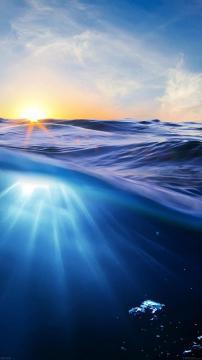 炫彩梦幻海浪,锁屏图片,高清手机壁纸,风景-好运图库