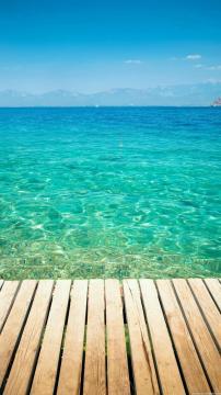 干净的热带海洋,锁屏图片,高清手机壁纸,风景-好运图库