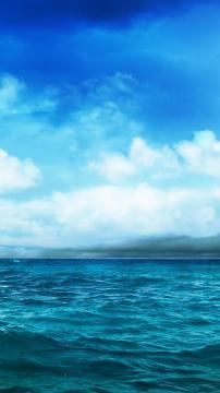 海洋蓝天风暴,锁屏图片,高清手机壁纸,风景-好运图库