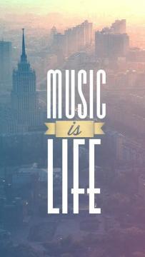 音乐是生命,锁屏图片,高清手机壁纸,影视-好运图库