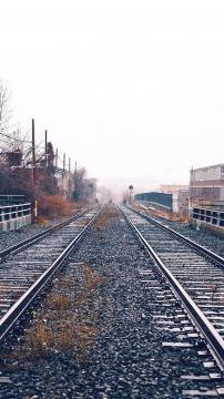 铁路车厂轨道,锁屏图片,高清手机壁纸,风景-好运图库
