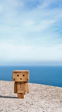纸箱人沙滩,锁屏图片,高清手机壁纸,另类-好运图库
