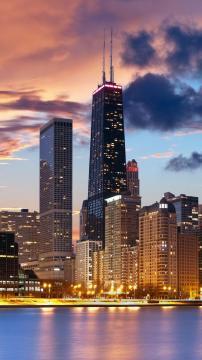 美国芝加哥,锁屏图片,高清手机壁纸,风景-好运图库