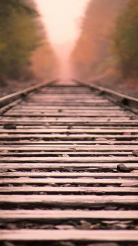 火车轨道直线,锁屏图片,高清手机壁纸,风景-好运图库