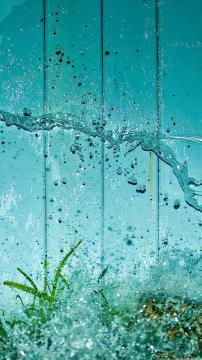泼水绿草水族馆,锁屏图片,高清手机壁纸,风景-好运图库