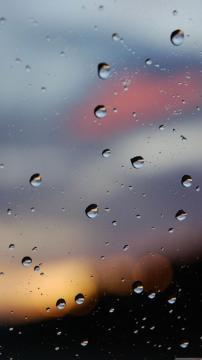 水滴玻璃高清手机壁纸-好运图库