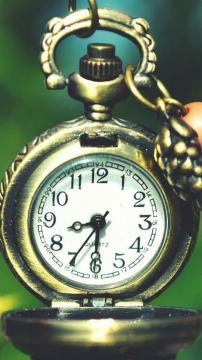 时钟花巨口袋手表高清手机壁纸-好运图库