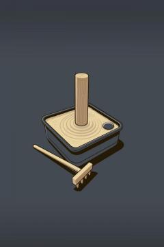 沙中木头插图,锁屏图片,高清手机壁纸-好运图库