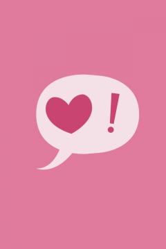 粉色爱心,锁屏图片,高清手机壁纸-好运图库