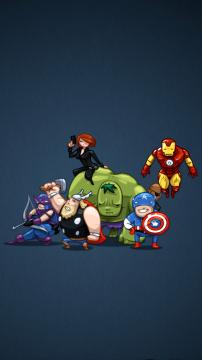 超级英雄卡通插画,锁屏图片,高清手机壁纸-好运图库