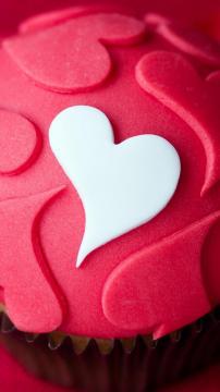 爱心形状甜点蛋糕,锁屏图片,高清手机壁纸,另类-好运图库