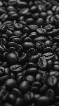 黑咖啡豆高清手机壁纸-好运图库