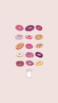 美味甜甜圈,锁屏图片,高清手机壁纸,另类-好运图库