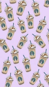 星巴克焦糖星冰乐饮料图案,锁屏图片,高清手机壁纸,另类-好运图库
