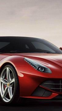 红色的法拉利F12高清手机壁纸-好运图库
