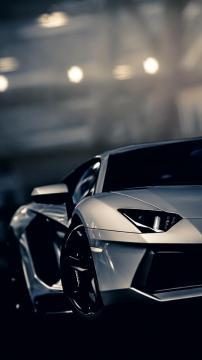 夜幕下的兰博基尼AventadorGT赛车高清手机壁纸,汽车-好运图库