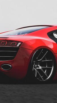 奥迪R8红色,锁屏图片,高清手机壁纸,汽车-好运图库
