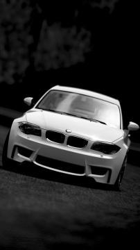 黑夜中的白色宝马M3,锁屏图片,高清手机壁纸,汽车-好运图库