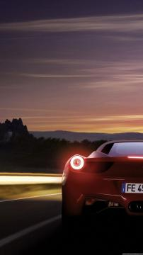 夜幕下的法拉利458,锁屏图片,高清手机壁纸,汽车-好运图库