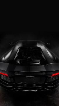兰博基尼Aventador黑色,锁屏图片,高清手机壁纸,汽车-好运图库
