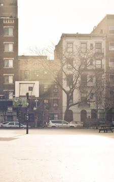 城市篮球场,锁屏图片,高清手机壁纸,风景-好运图库