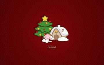 MOGOO蘑菇点点圣诞节壁纸-好运图库