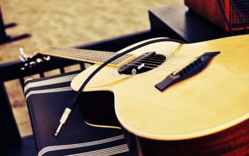 帅气的吉他静物摄影壁纸-好运图库