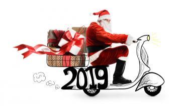 2019圣诞节海报设计-好运图库