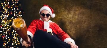 圣诞节男人-好运图库