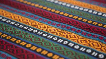 复古民族花纹图案地毯-好运图库