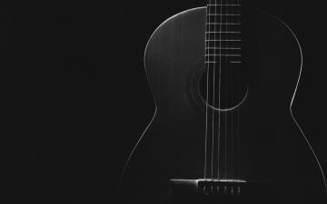 黑色吉他摄影-好运图库